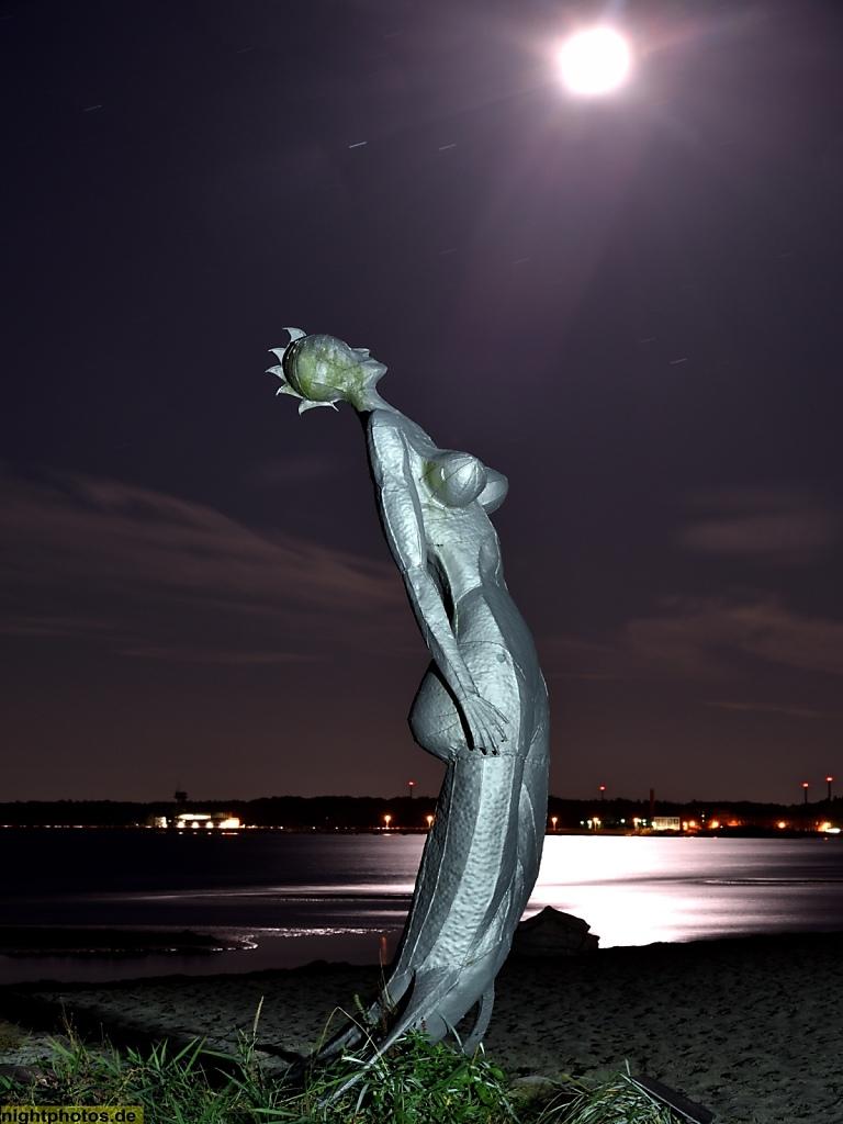 Eckernförde Meerjungfrau Mareminde von Eckhard Kowalke errichtet 1997