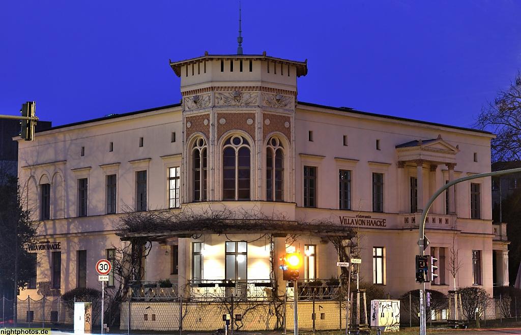 potsdam villa von haacke in der j gerallee erbaut 1847 1848 bauherr war k niglicher platzmajor