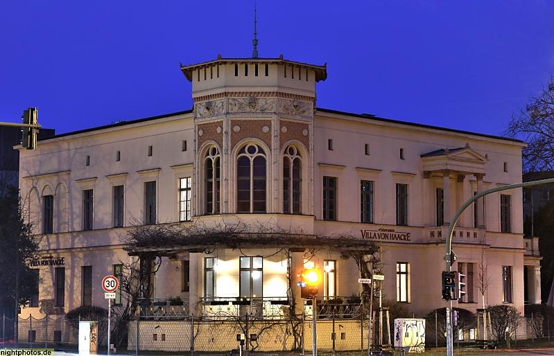 Villa Haacke Potsdam potsdam villa von haacke in der jägerallee erbaut 1847-1848. bauherr