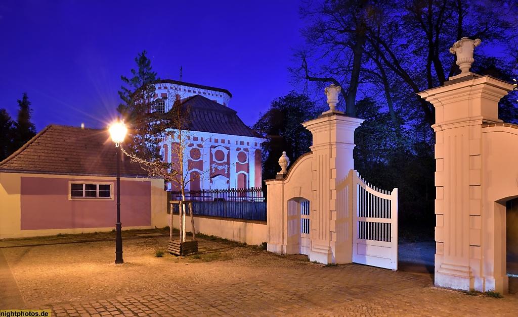 Berlin Buch Stadtgut Portal Zum Schlosspark Hinten Schlosskirche