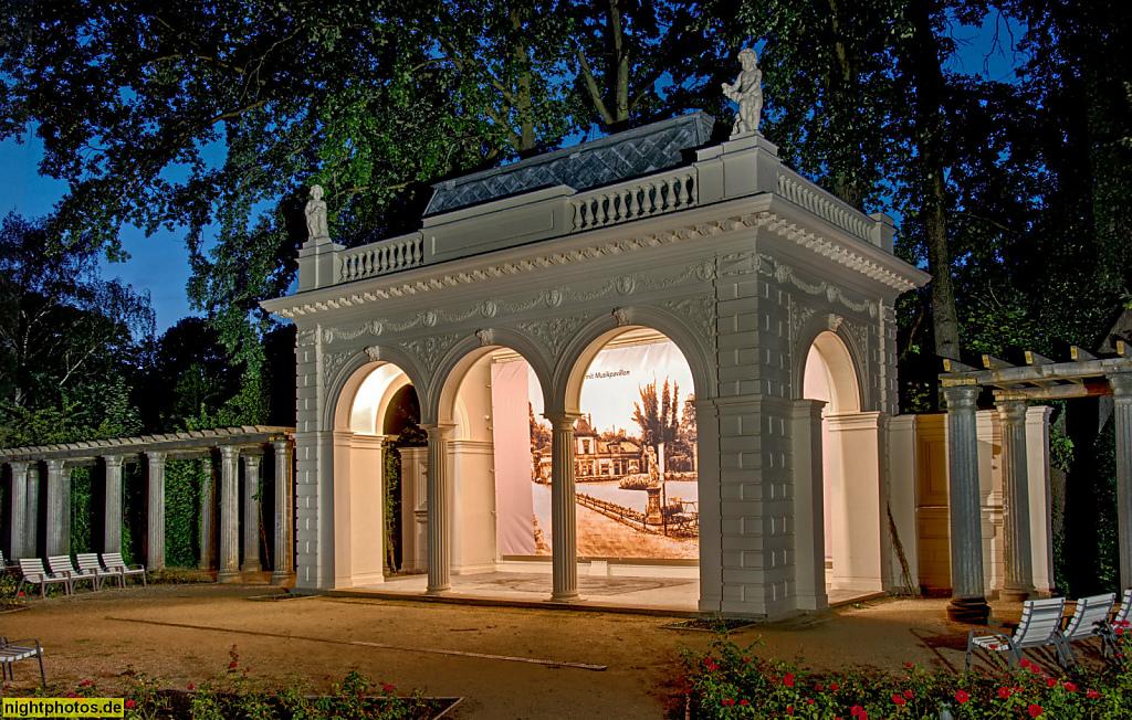 Berlin Pankow Rosenpavillon im Bürgerpark. Gestaltet als Landschaftspark 1863-1864 von Wilhelm Perring für Zeitungsverleger Hermann Killisch-Horn